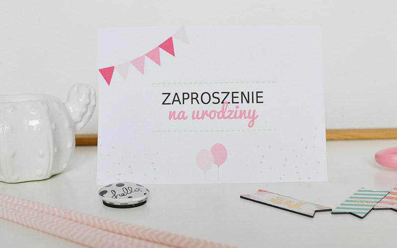 Zaproszenie na urodziny różowe