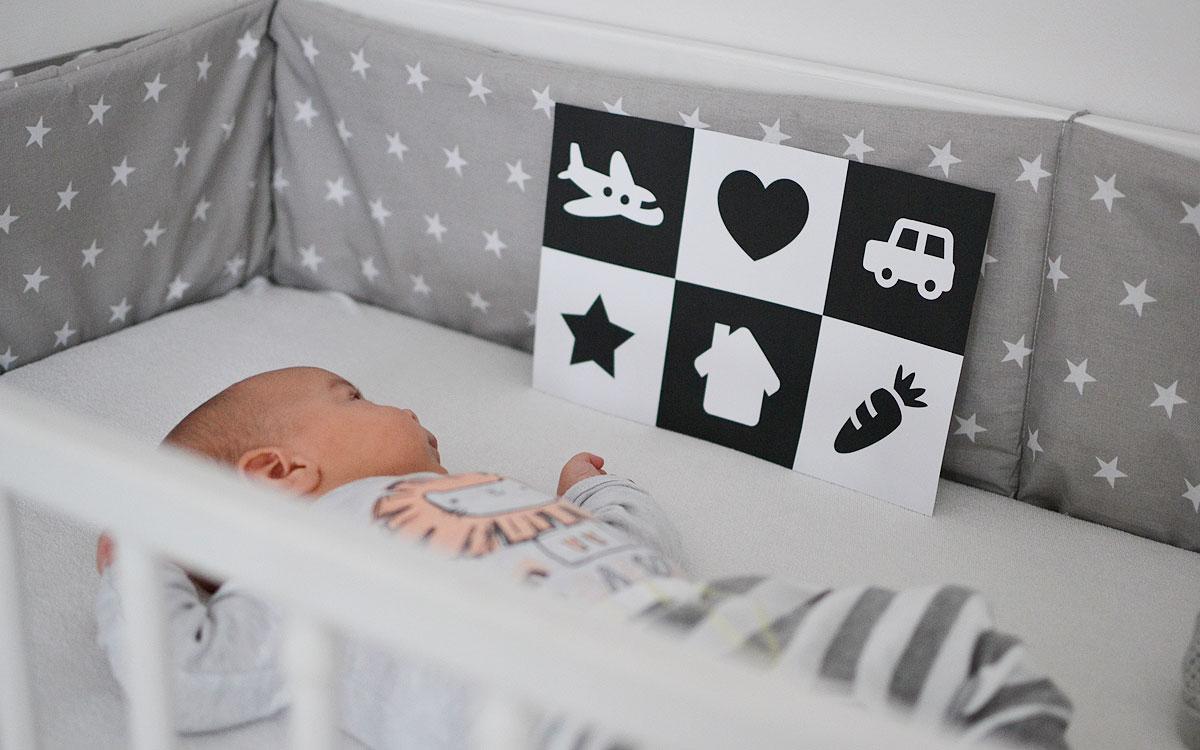Karty kontrastowe dla niemowląt do druku