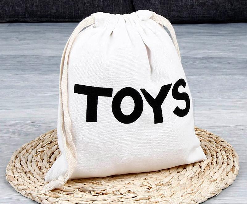 Małe worki na zabawki i klocki z Aliexpress