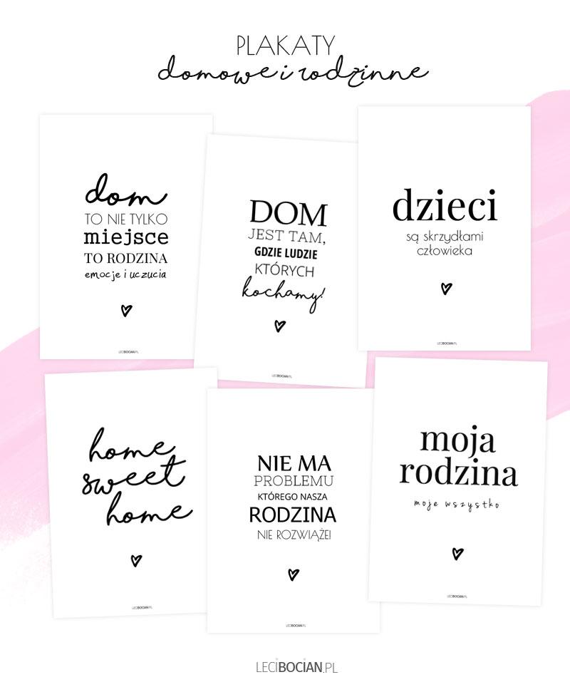 Domowe i rodzinne plakaty do druku - 6 nowych wzorów