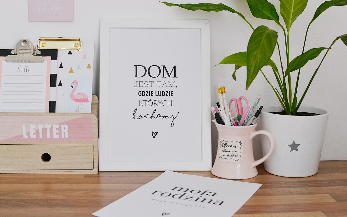 Domowe i rodzinne plakaty do druku