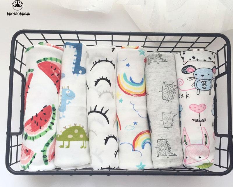 Kolorowe bawełniane kocyki z Aliexpress