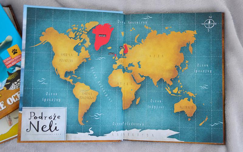 Nela i polarne zwierzęta - mapa