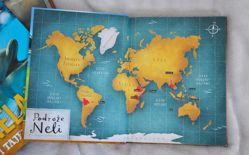 Nela na 3 kontynentach - mapa przygód