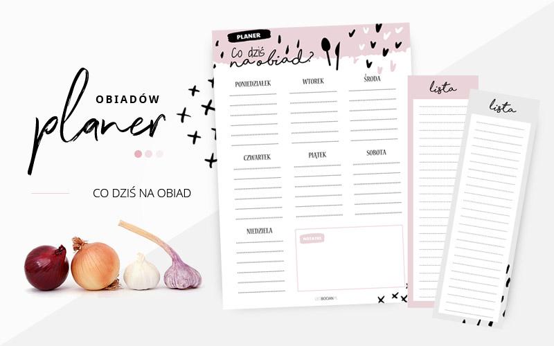 Planer posiłków i lista zakupów do wydrukowania