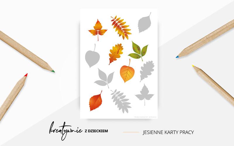 Jesienne karty pracy - cienie liści