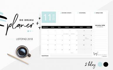 Planer październik 2018 – do pobrania i wydrukowania