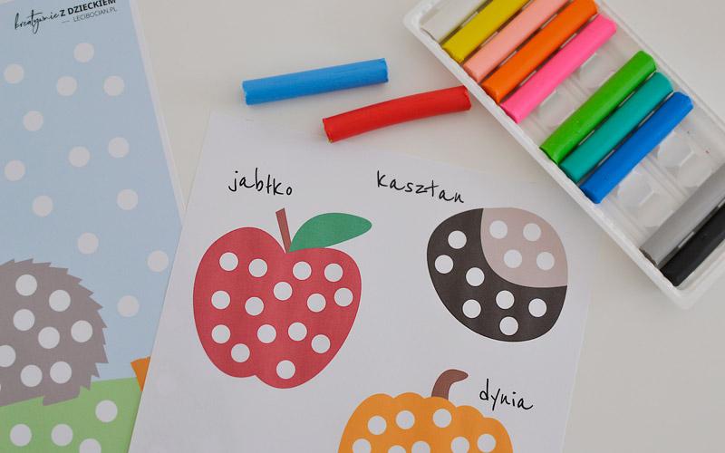 Kreatywnie z dzieckiem #3 – Jesienne wyklejanki