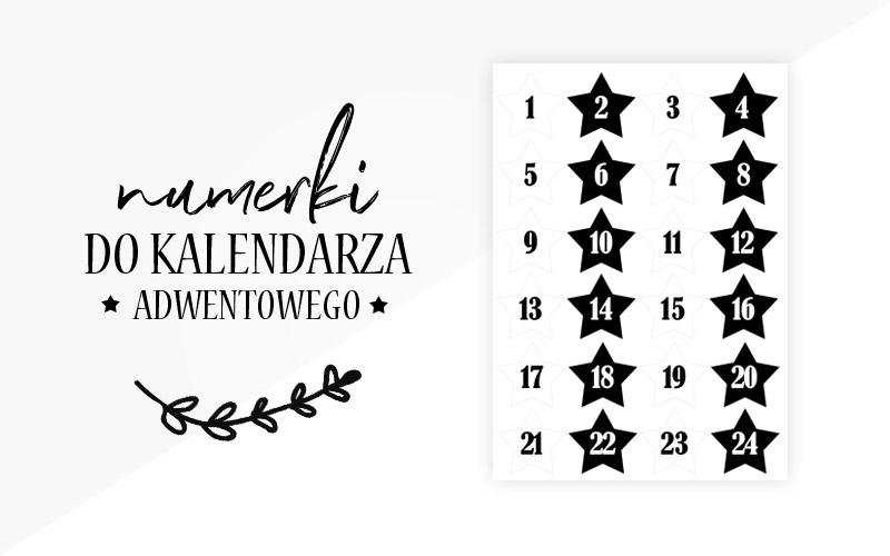 Numerki do kalendarza adwentowego do wydrukowania