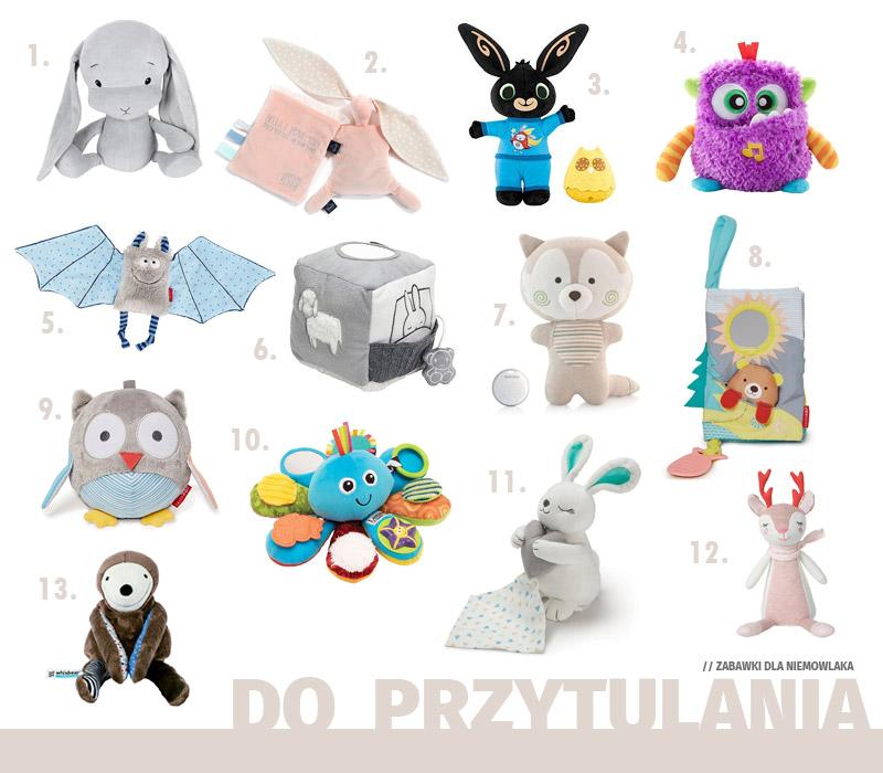 Prezenty dla niemowlaka - Zabawki do przytulania