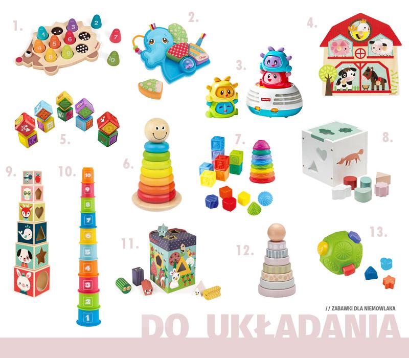 Prezenty dla niemowlaka - Zabawki do układania