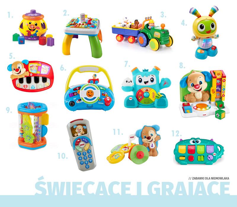 Prezenty dla niemowlaka - Zabawki świecące i grające
