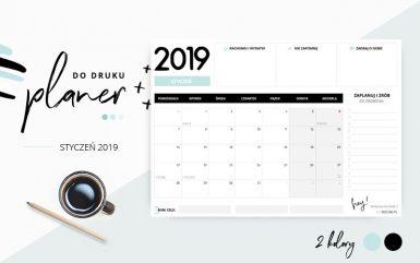 Planer styczeń 2019 – do pobrania i wydrukowania