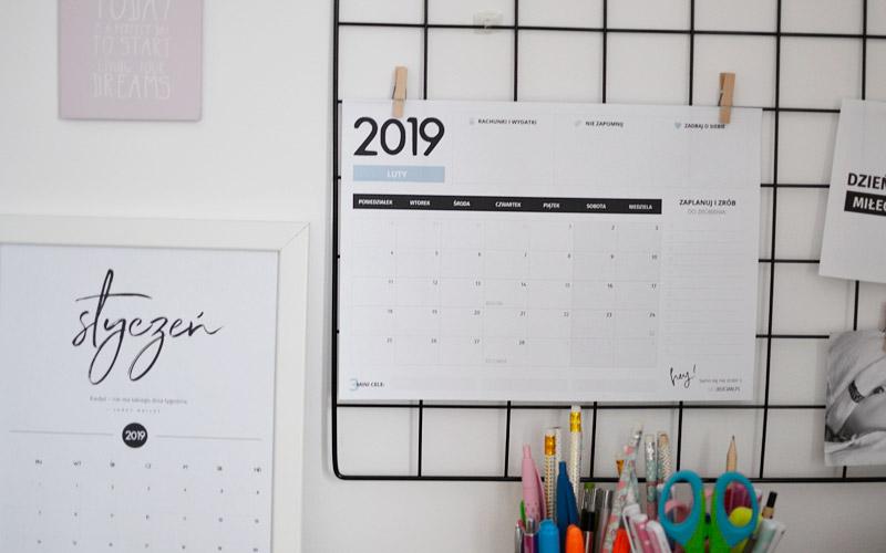 Planer luty 2019 – do pobrania i wydrukowania