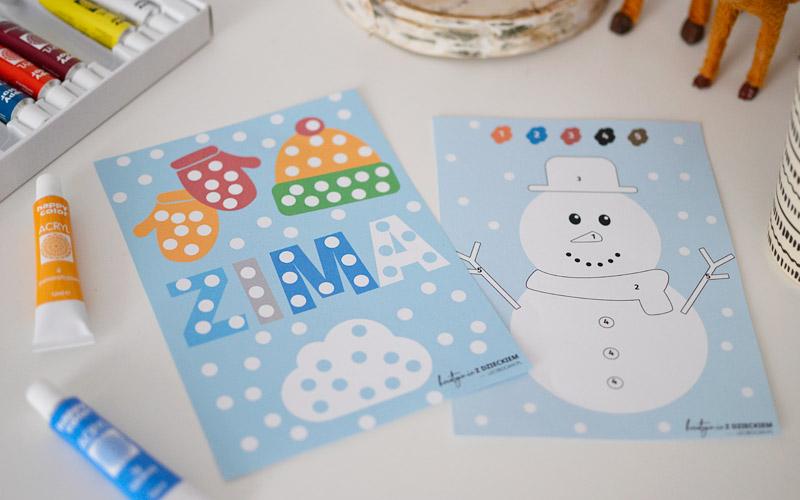 Zimowe wyklejanki do druku
