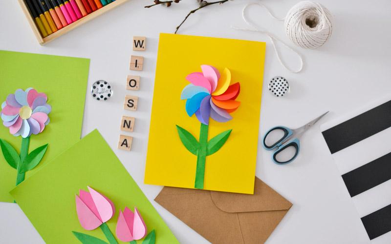 Kreatywnie z dzieckiem #14 - wiosenne kwiatki wycinanki