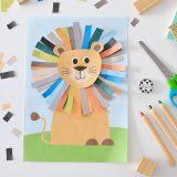 Kreatywnie z dzieckiem #13 - wesoły lew do wyklejania