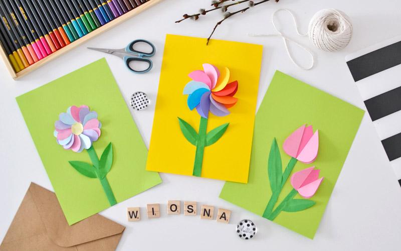 Wycinanka wiosenne kwiatki z papieru - drukuj i przyklejaj