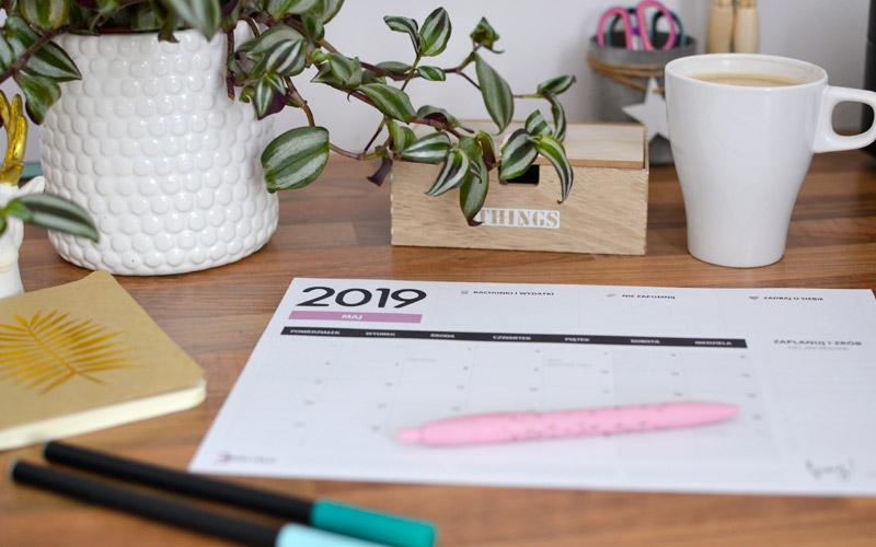 Darmowy planer do druku maj 2019