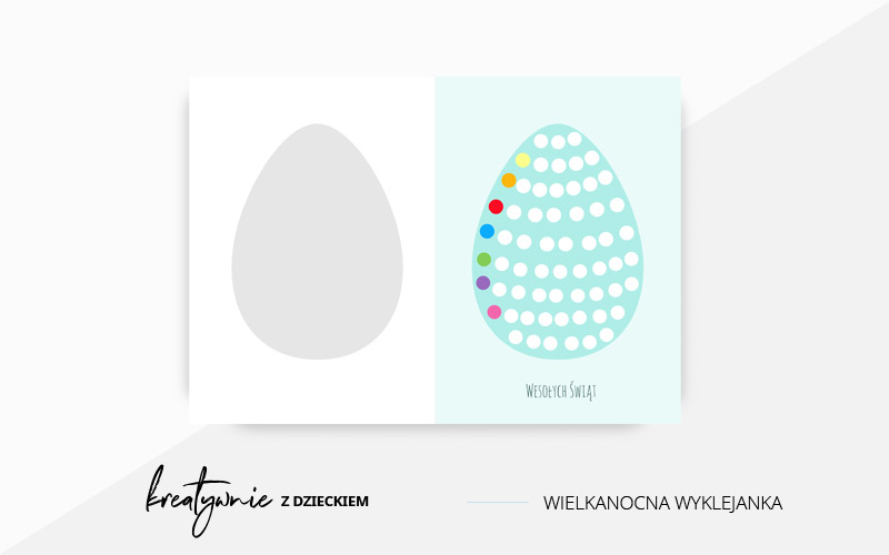 Wielkanocna kartka wyklejanka do druku i wyklejania