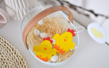 Wielkanocne kurczaki DIY - wycinanka