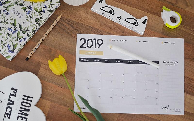 Planer czerwiec 2019 - do pobrania i wydrukowania