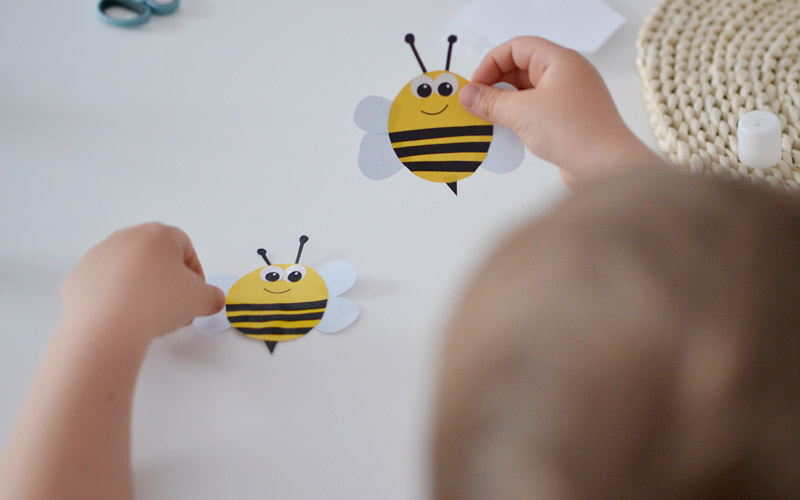 Pszczółka wycinanka, czyli zrób to sam dla dzieci