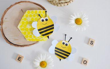 Kreatywnie z dzieckiem #17 – wiosenna pszczółka wycinanka