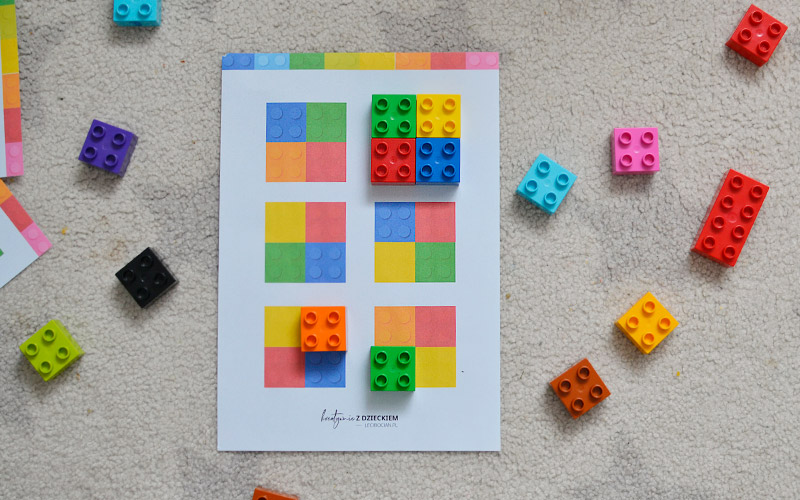Zabawa z lego Duplo - nauka kolorów