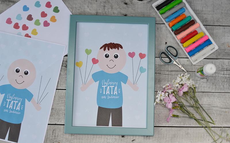 Kreatywnie z dzieckiem #18 - plakaty zrób to sam dla taty