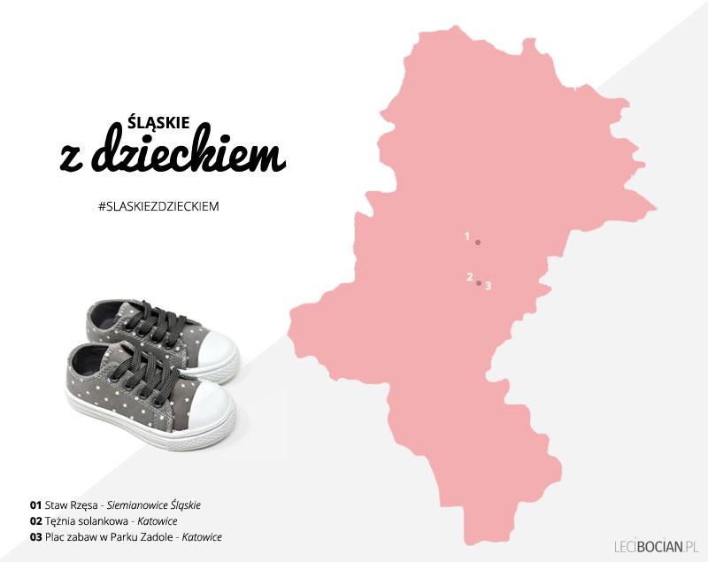 Śląskie z dzieckiem - mapa atrakcji