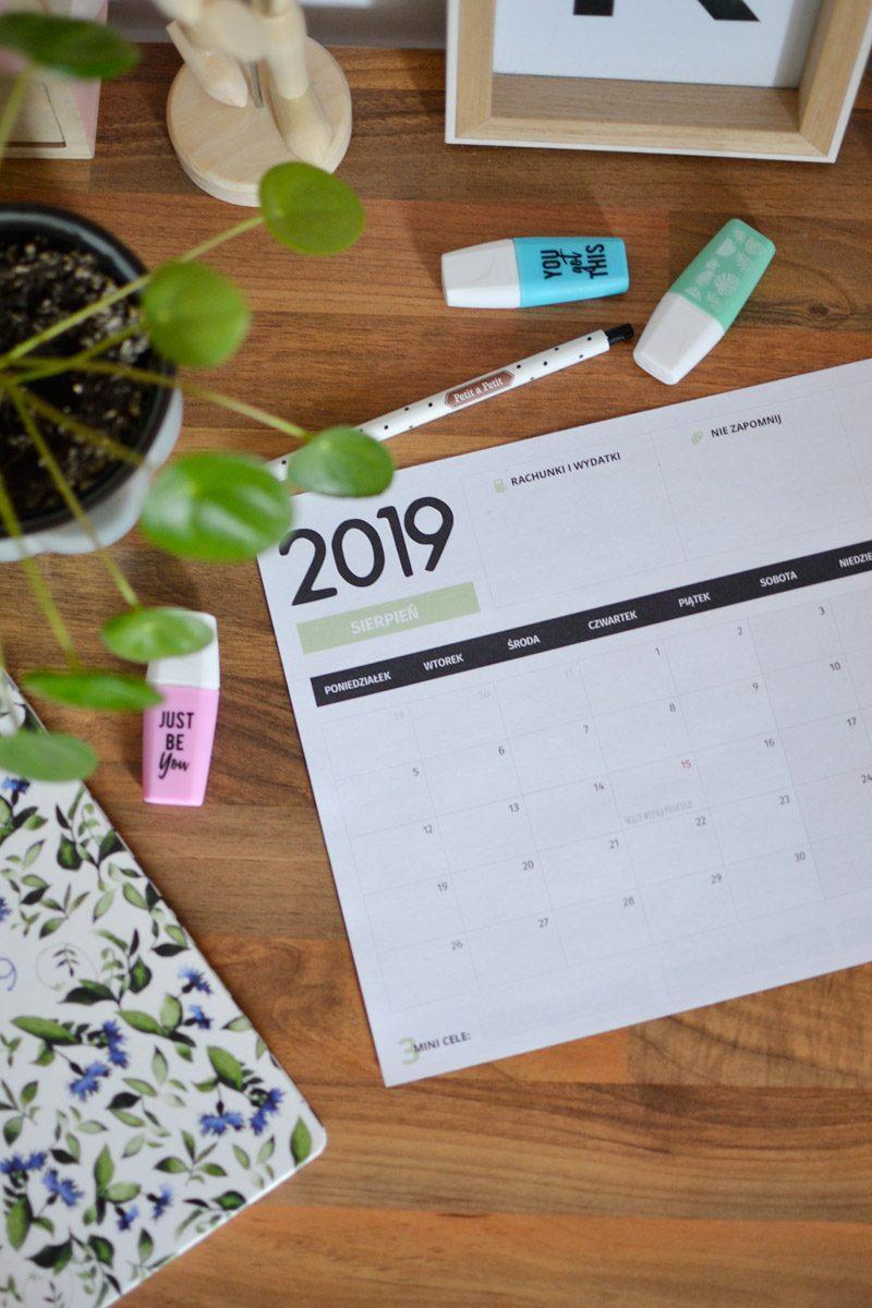 Darmowy planer na sierpień 2019