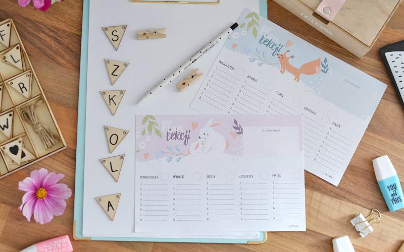 Plan lekcji do druku - pobierz i wydrukuj