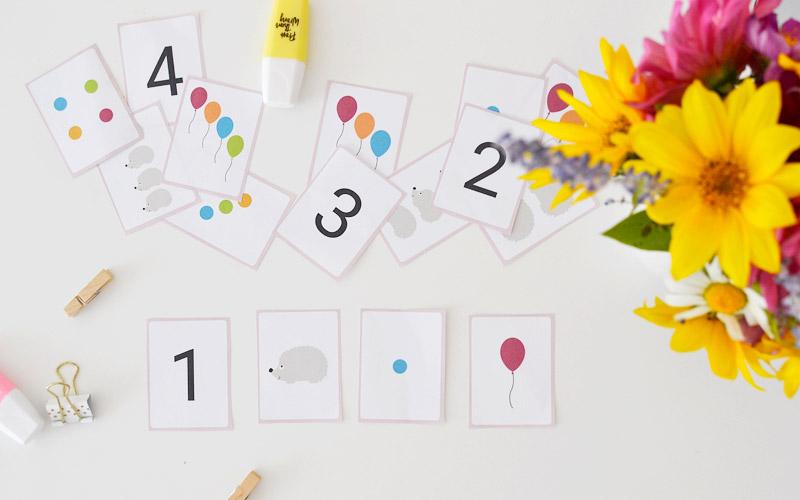 Karty do nauki cyferek - do druku