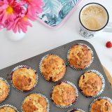 Najlepsze muffinki na maślance z malinami