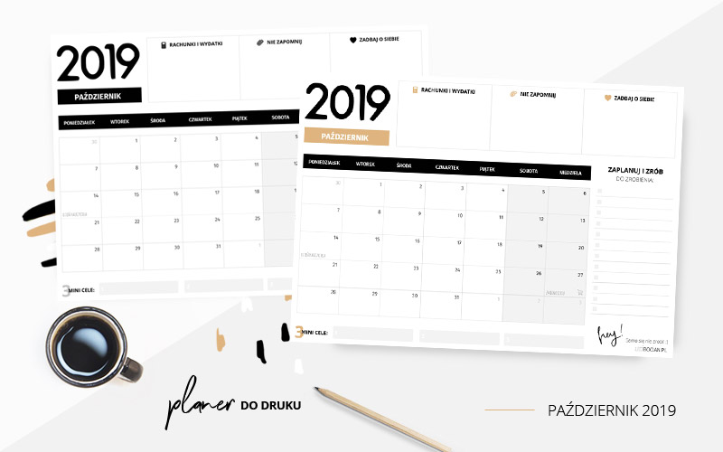 Planer październik 2019 – do pobrania i wydrukowania