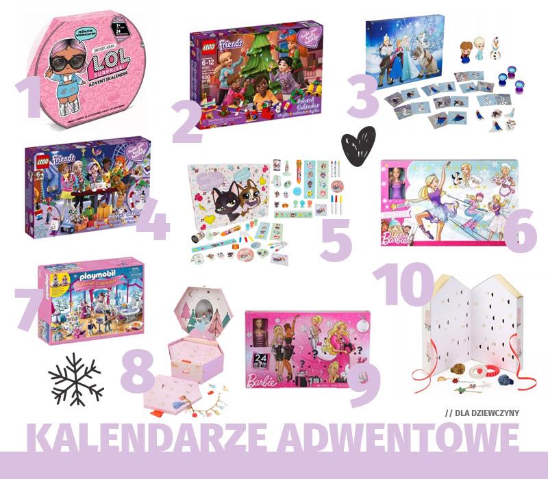 Kalendarze adwentowe dla dziewczynki