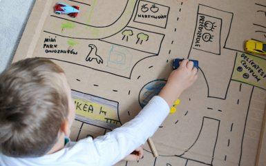Miasto z kartonu - zabawki z papieru