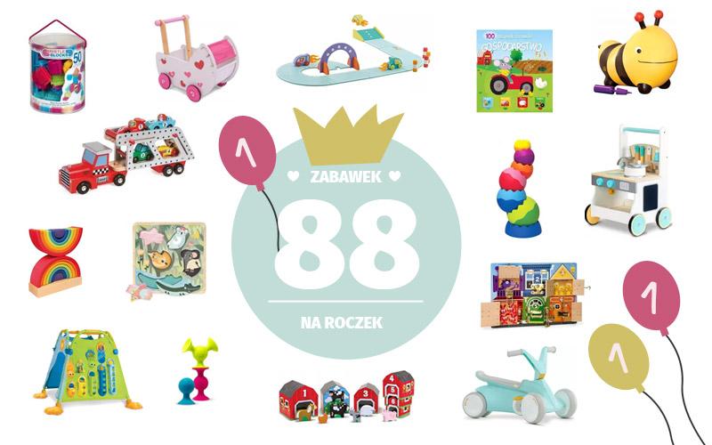 Prezent na roczek - 88 prezentów dla rocznego dziecka