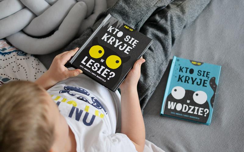 Kto się kryje w lesie - książka dla dzieci w formie pop-up