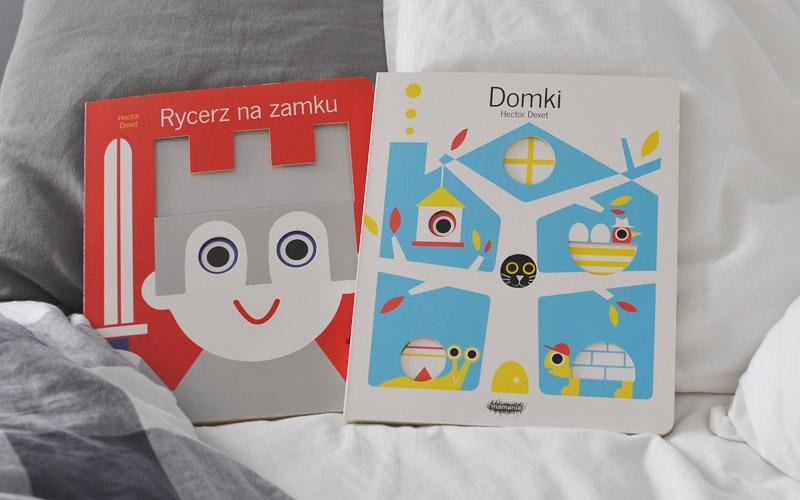 Książki z okienkami dla dzieci - Domki i Rycerz na zamku