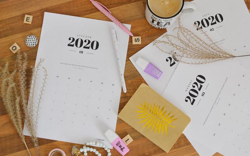 Kalendarz do druku 2020 – darmowy do pobrania