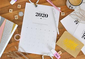 Kalendarz 2020 do druku