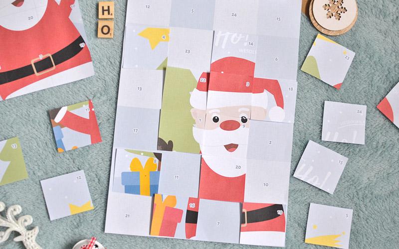Kalendarz adwentowy dla dzieci w formie układanki