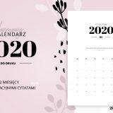 Kalendarz do druku 2020