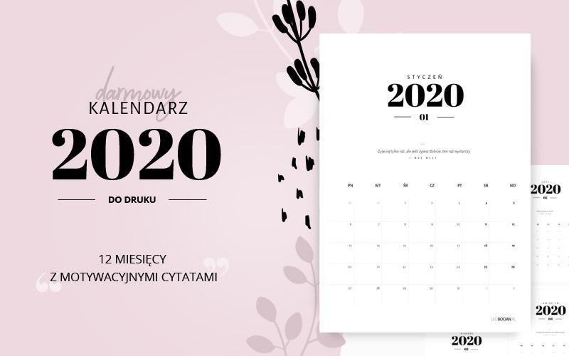 Kalendarz 2020 Do Druku Darmowy Do Pobrania Lecibocian Pl