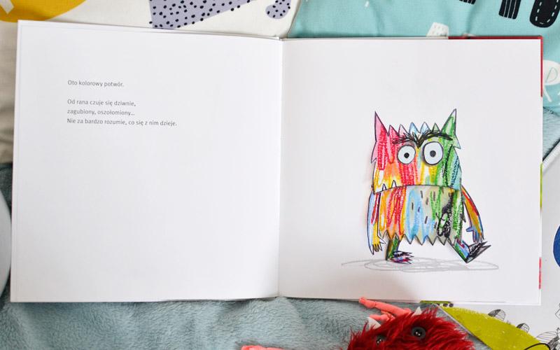 Kolorowy potwór - książka o emocjach zdjęcia