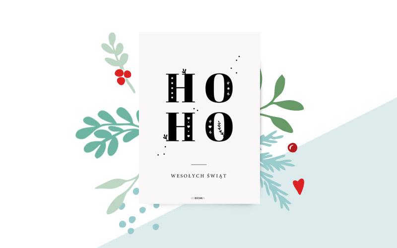 Plakat na święta z Ho ho
