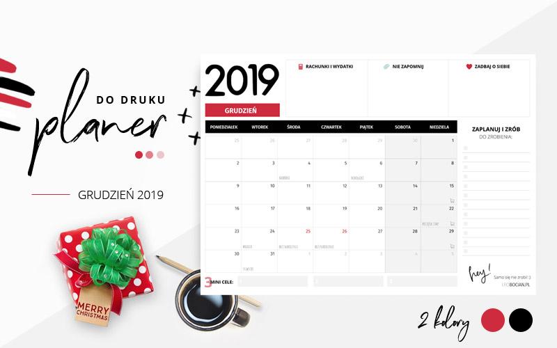 Planer grudzień 2019 – do pobrania i wydrukowania