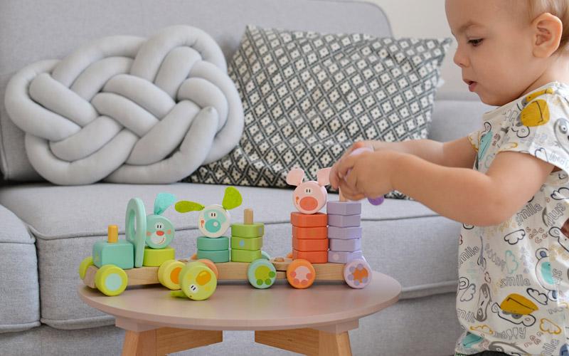Prezenty dla dzieci na mikołajki - Drewniany pociąg